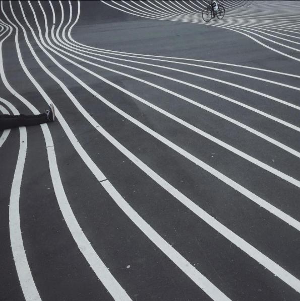 Bike lines in Copenhagen
