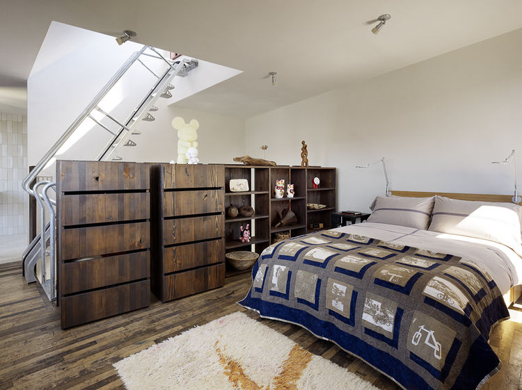 Sleeping loft in a San Francisco net-zero cottage