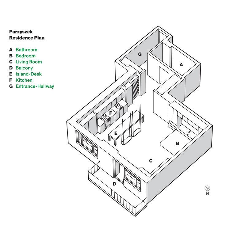 Warsaw apartment floor plan