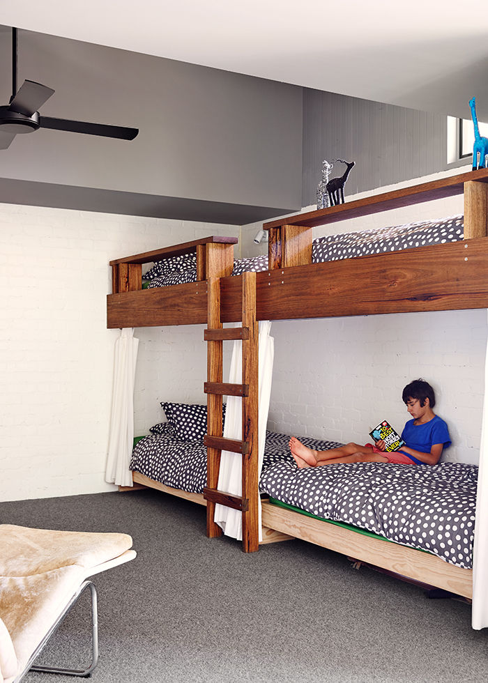 Kids' bunk beds in an Australian vacation home