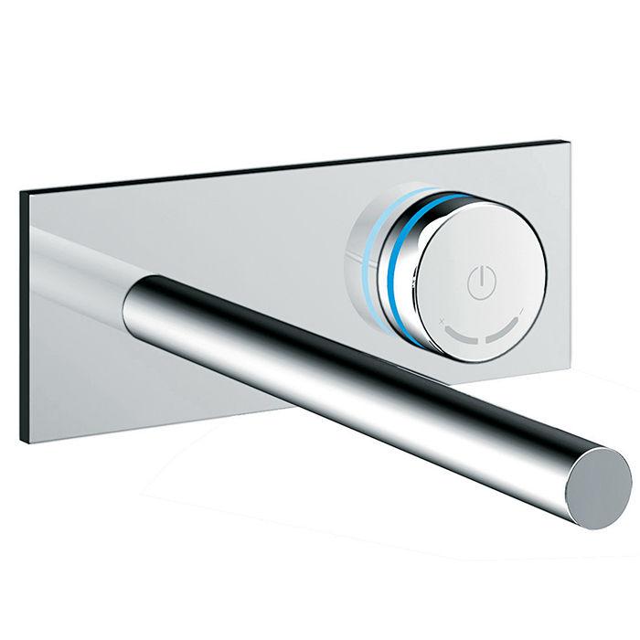 modern smart bathroom appliances like electronica thermostatic tubl filler by blu bathworks