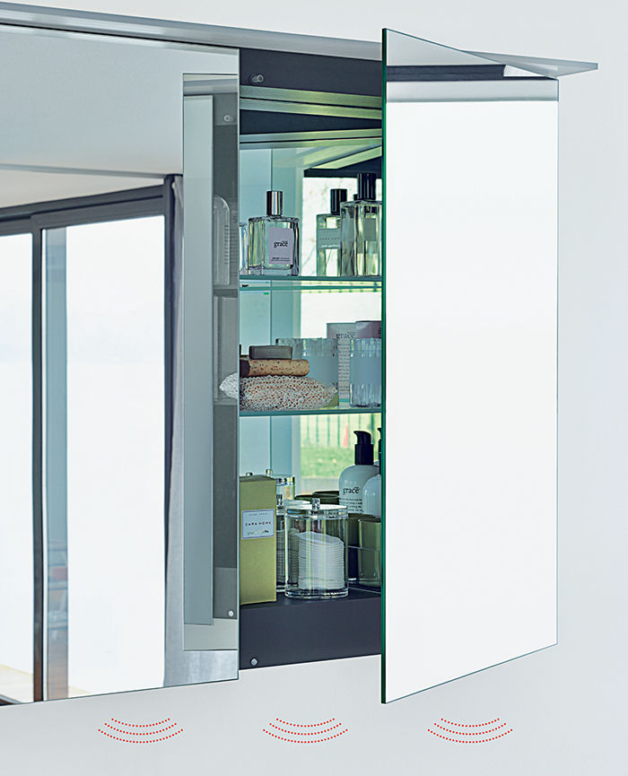 modern smart bathroom appliances like the happy d2 mirror cabinet with bluetooth speaker