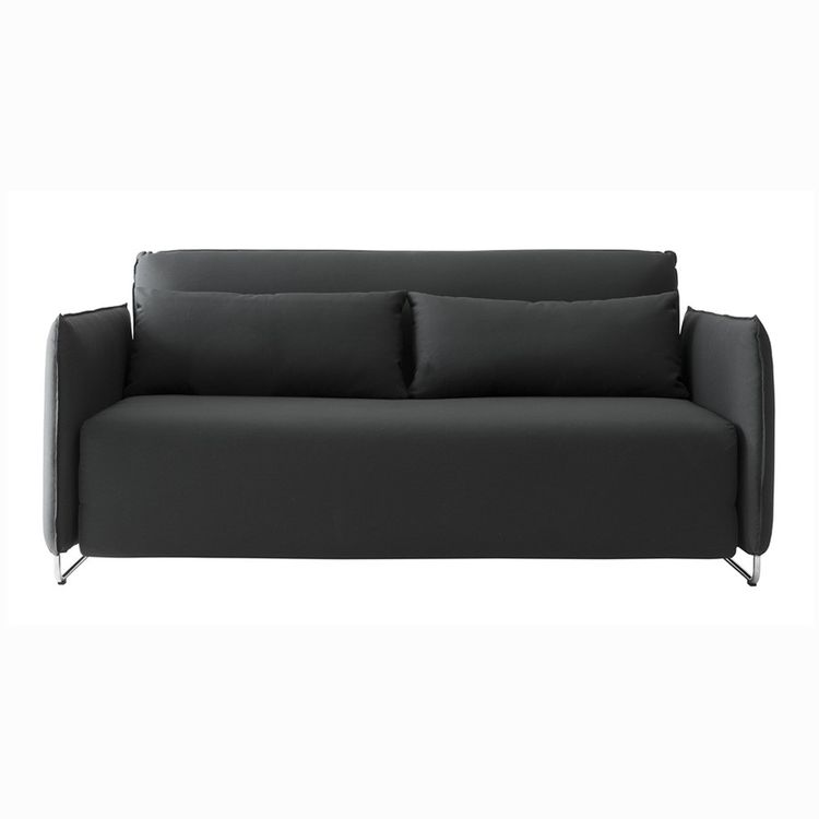 Sleek modern sleeper sofa in black