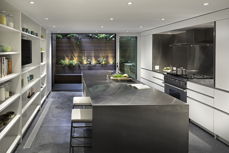 Modern West Village renovation with kitchen