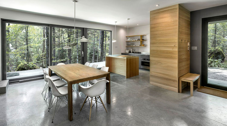 Spahaus cabin in Canada with an open-plan living area
