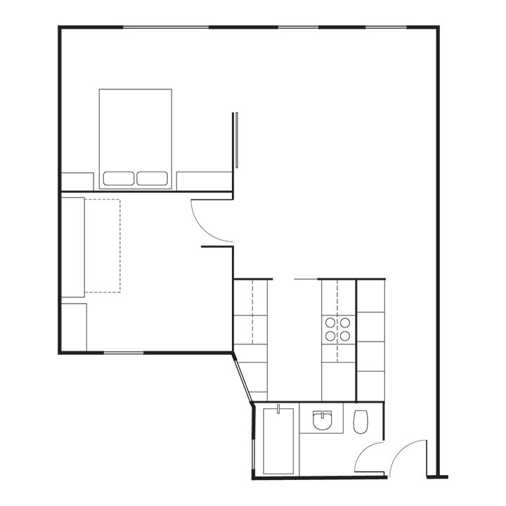 Modern Brooklyn apartment floor plans