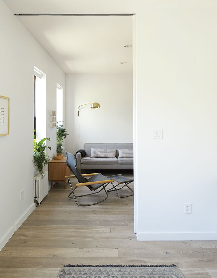 Modern Brooklyn apartment living room with Ny chair and Reese sofa