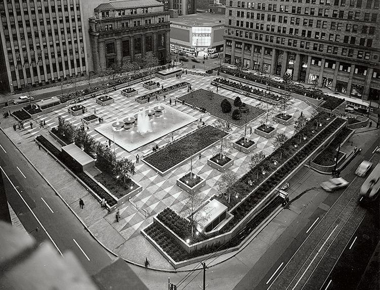 Pittsburgh public space Mellon Square renovation  archival