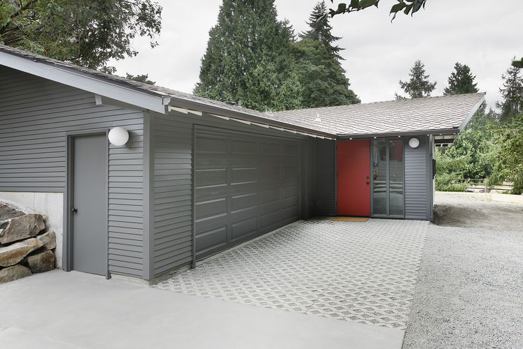 Renovated stable and garage.