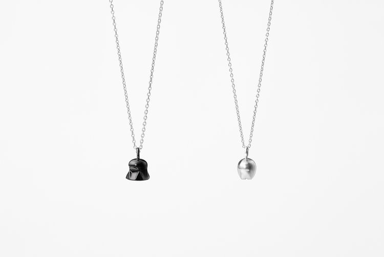 Star Wars necklaces by Nendo features Darth Vader and C3PO