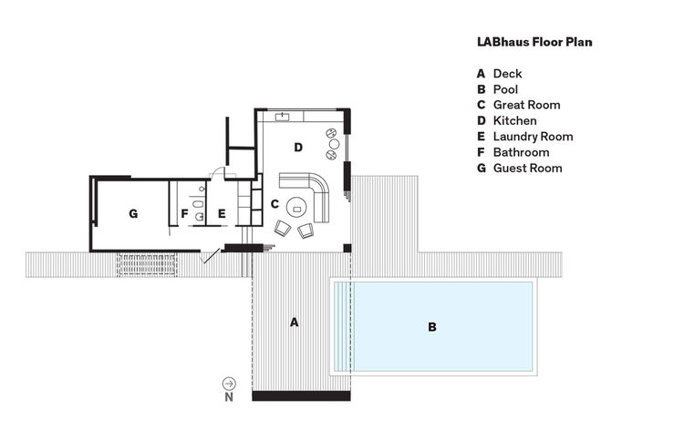 Boston prefab guest home and pool floor plans