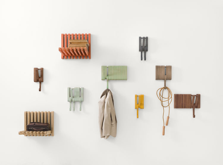 Hidden wall hooks by Juhana Myllykoski for Sculptures Jeux