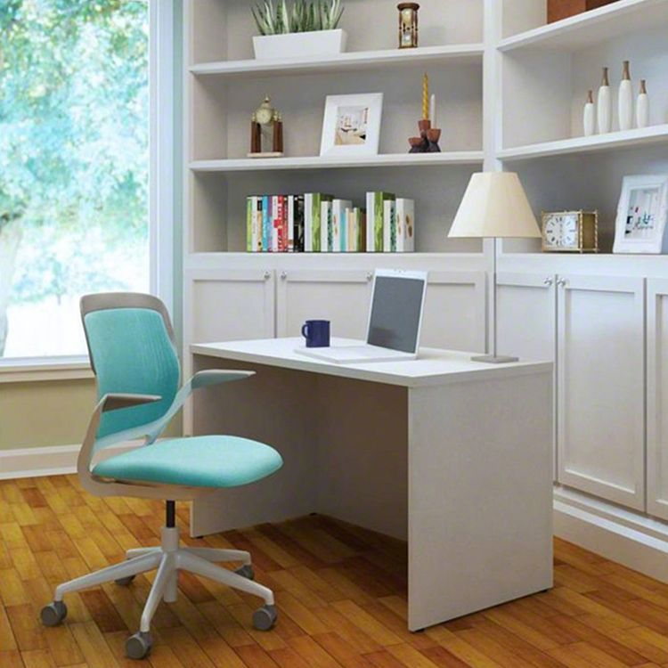 Colorful task chair with blue seat and back