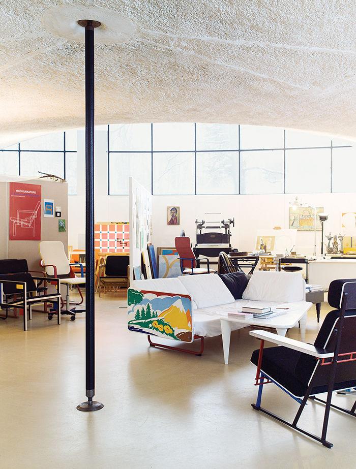 modern yrjo kukkapuro finland artek landscape sofa workspace