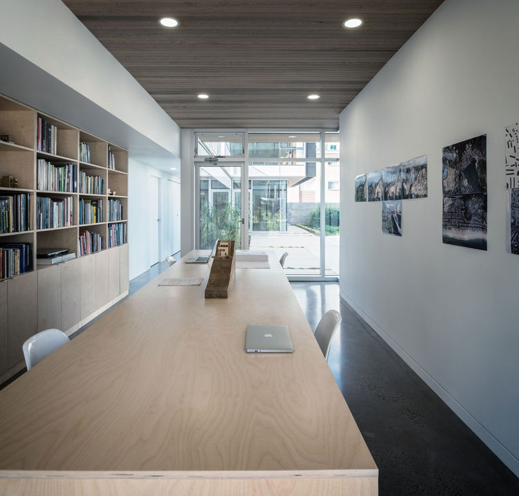 Modern architecture and contracting office in a live-work house