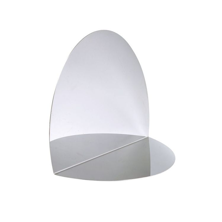 Sculptural folded tabletop mirror