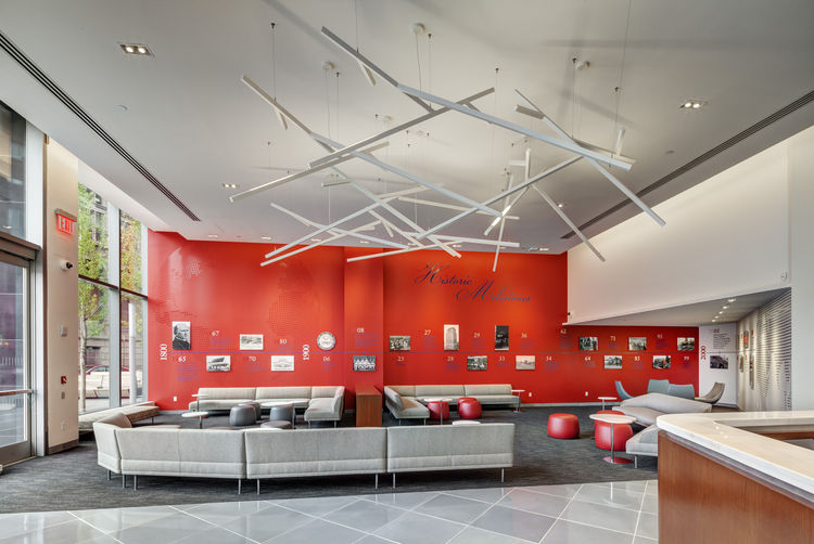 St. John's University – 101 Astor Place interior design by The Switzer Group.