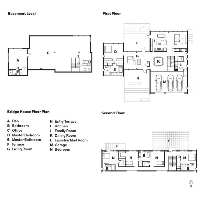 McLean, Virginia, Bridge House Floor Plan