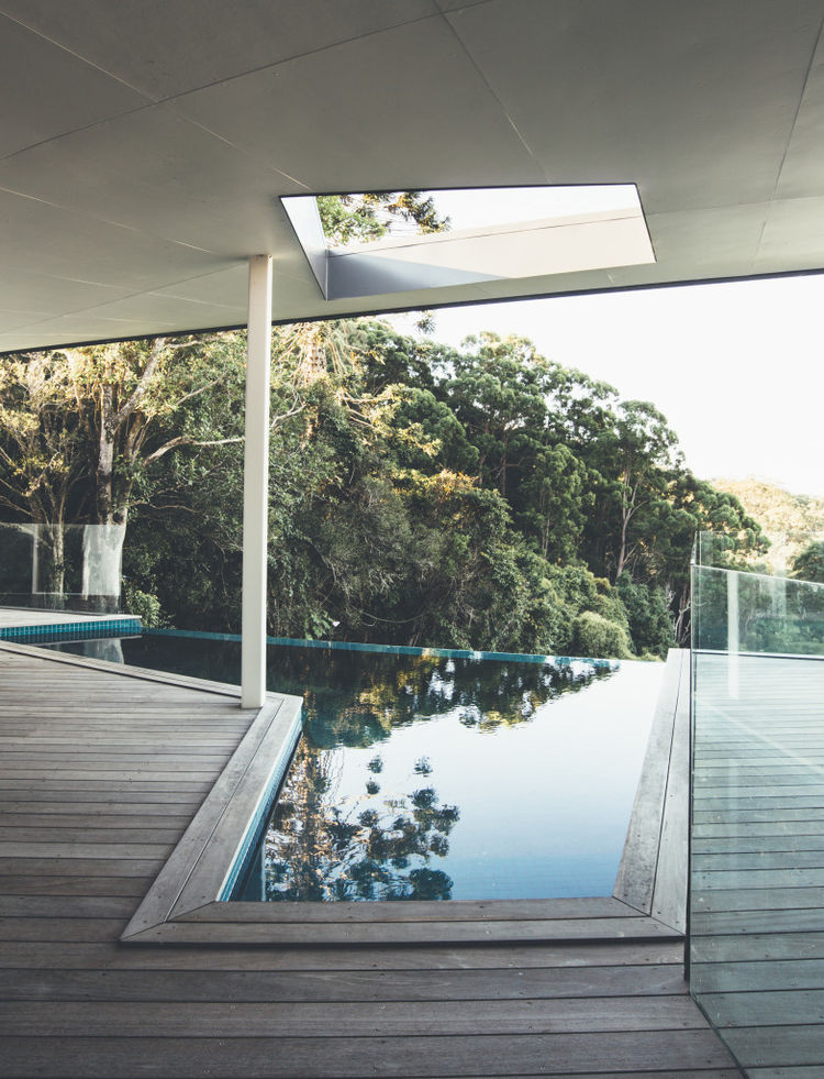 Geometric pool with views in Australia