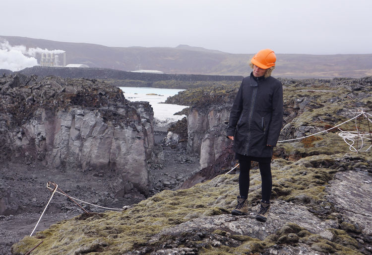 Architect Sigríður Sigþórsdóttir surveying the environment.