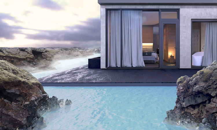 A rendering of the new geothermal spa and hotel accommodations.
