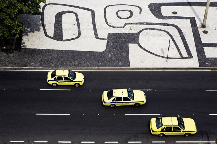 The sidewalks of Copacabana in Rio De Janero, Brazil, designed by Roberto Burle Marx