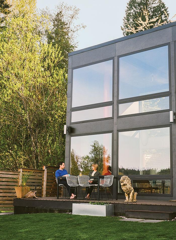 modern renovation aqua lair porch exterior