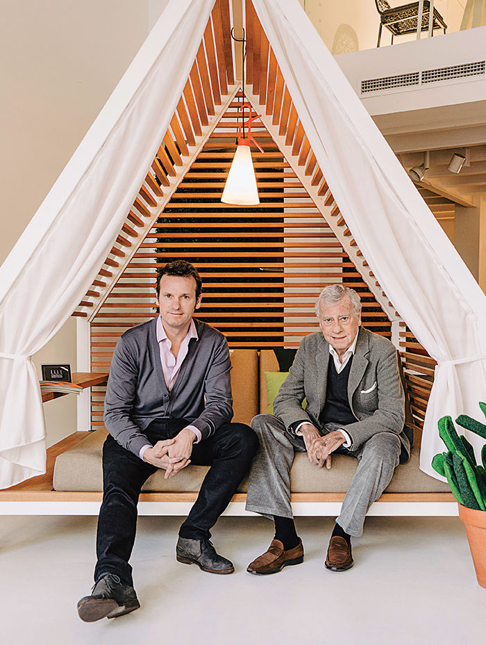 Alex and Manuel Alorda in a Kettal canopy designed by Patricia Urquiola