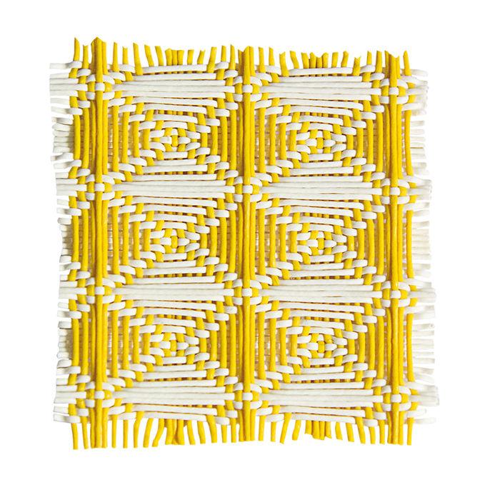 3-D woven fabric