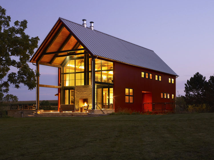Nearly next zero modern Wisconsin home.