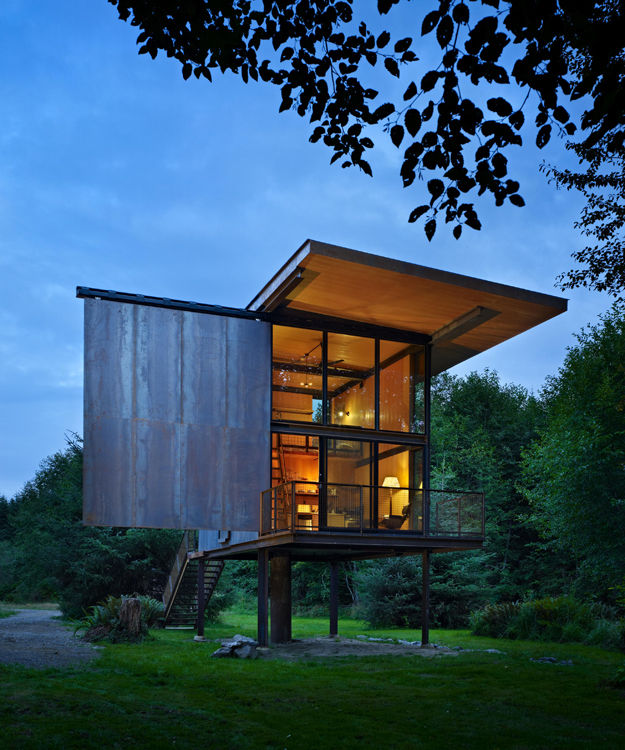 Sol Duc cabin designed by Tom Kundig on the Olympic Peninsula