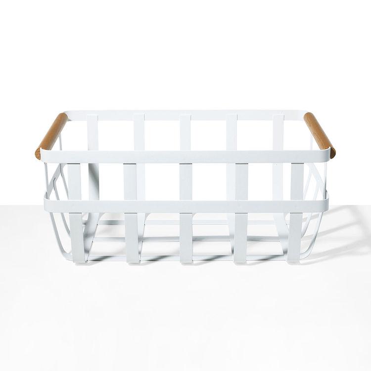 Tosca White Basket from Yamazaki