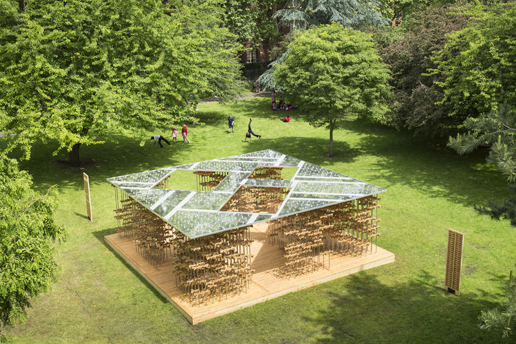 Triumph Pavilion in London's Museum Gardens