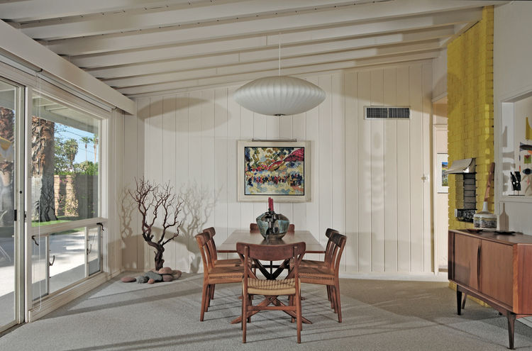 Dining room of 1956 modern home.