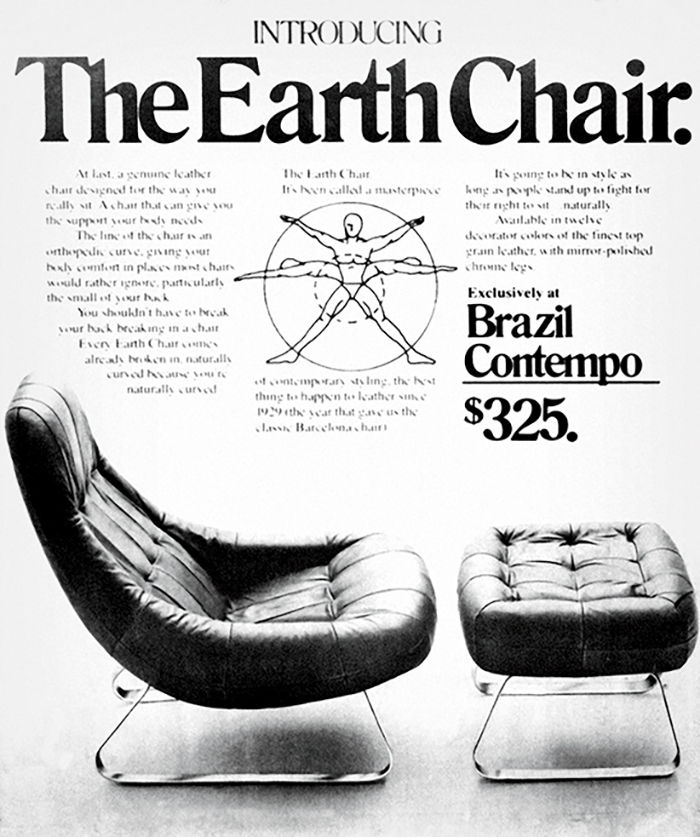 """Earth Chair"" by Percival Lafer for retailer Brazil Contempo"