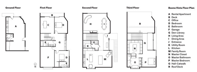 Modern renovation in San Francisco floor plans