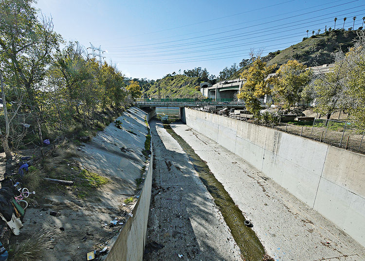 Los Angeles River before revitalization