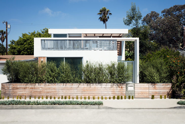 The exterior of a Venice bungalow.