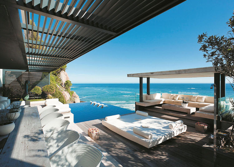 Home overlooking the sea with a pool in Cape Town
