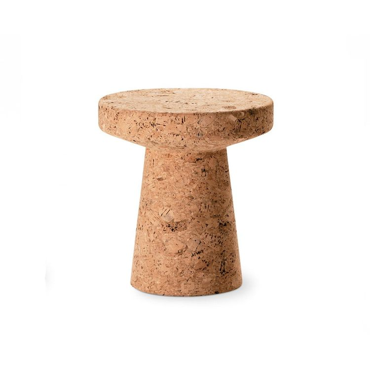 Pedeatal style cork stool from Vitra