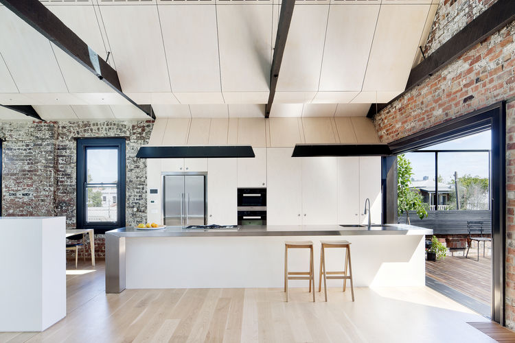 Miele oven in Australian indoor-outdoor kitchen.