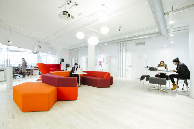 WeWork workspace in Soho West, New York