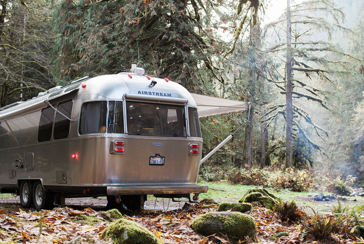 Airstream with smart home technology.