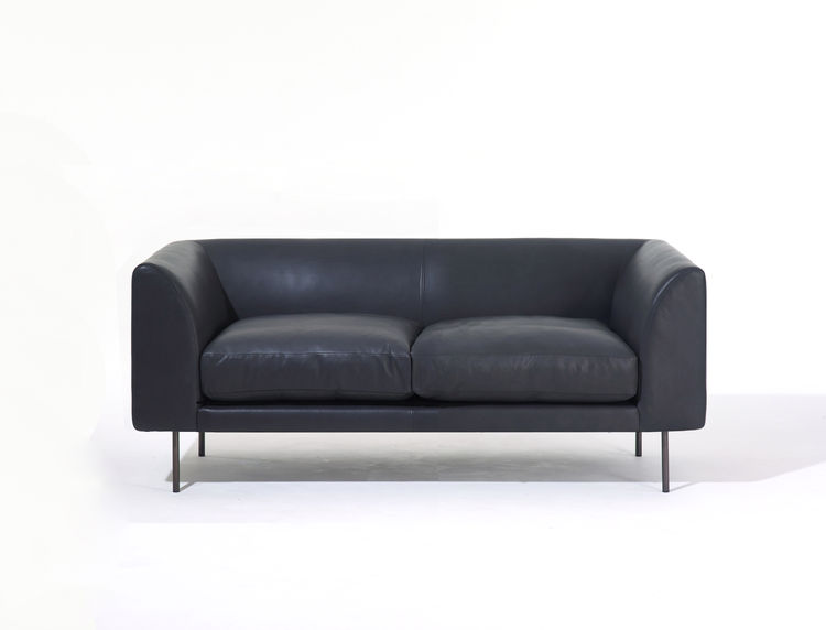 Streamlined and comfortable two-seater sofa