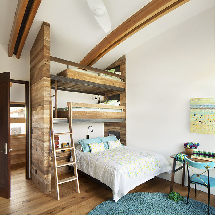 Kid's room with bunk beds in the Jackson Hole vacation home