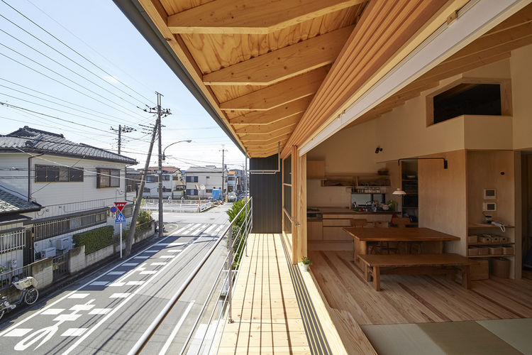 Japanese interior constructed from local cedar and cypress.