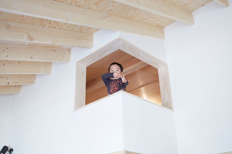 Kid's loft in upstairs of Japanese home.