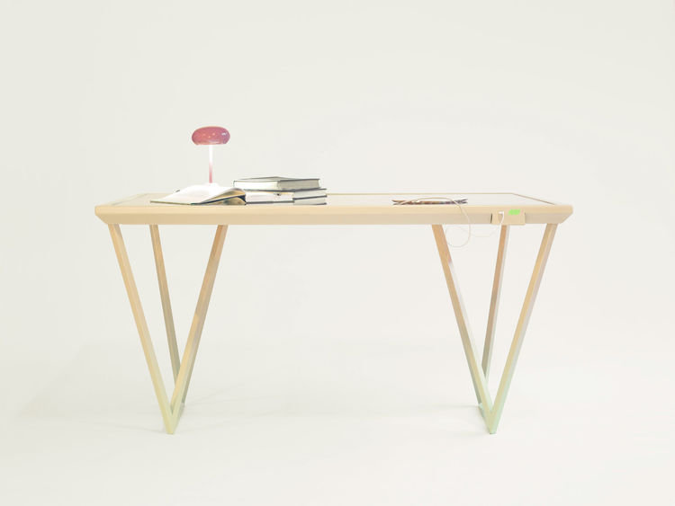 Charging table by Marjan van Aubel.