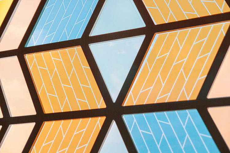 Solar cell glass window by Marjan van Aubel.