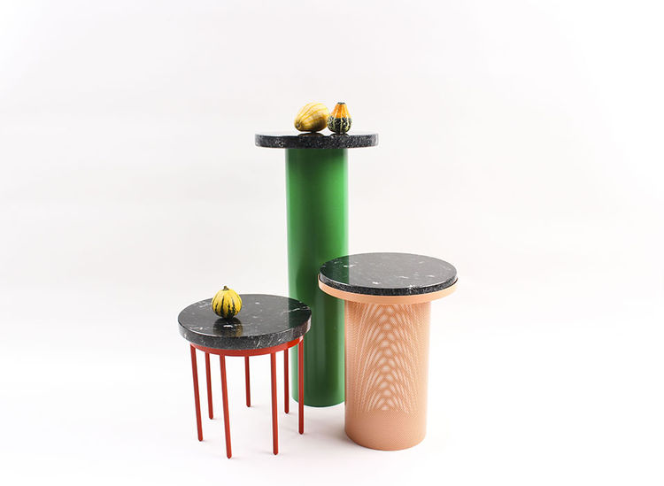 modern design young guns 2014 Vera & Kyte pedestal tables
